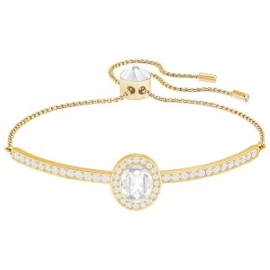 Bransoletka SWAROVSKI Gently Oval Bangle White 5279315