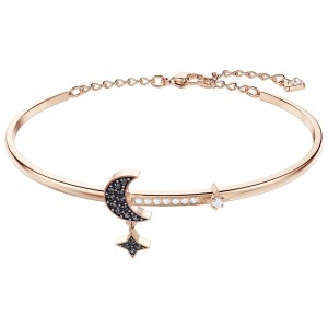 Bransoletka SWAROVSKI Duo Moon Bangle, Rose Gold M 5429729